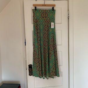 Lularoe Maxi Skirt, Beautiful Print, Size Small